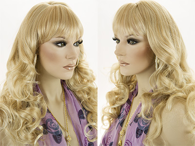 Medium Wavy Blonde Brunette Red Grey Costume Fun Color Wigs