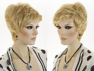 Short Pixie Wavy Straight Blonde Brunette Red Wigs