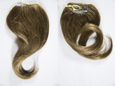 Clip On  Straight Premium Human Hair 8 Inches Long