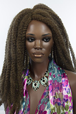 Long Dreadlock Curly Blonde Brunette Red Grey Costume Wigs