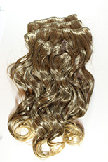ClipSet-CLNBW18 Clip-in Extension Natural Body Wave Premium Fiber 8 Piece Set 18 Inches Long