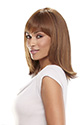 Flame Medium Monofilament Heat Friendly Jon Renau Straight Blonde Brunette Red Grey Wigs