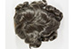 TP-020 Short Monofilament Hand Tied Wavy Straight Brunette Grey Toupee 5X7
