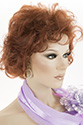 Barbara Medium Short Wavy Curly Blonde Red Wigs