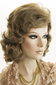 Hannah Long Medium Wavy Curly Blonde Brunette Red Wigs
