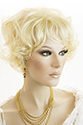 Gillian Medium Wavy Curly Blonde Red Wigs
