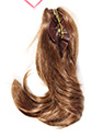DM37 Claw Clip Wavy 9 Inches Long Medium Short Wavy Straight Blonde Brunette Red Claw Clips Hair Pieces