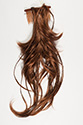 Harmony Foxtail Medium Wavy Straight Blonde Brunette Red Foxtail Hair Pieces