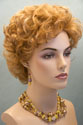 Pearl Short Wavy Curly Blonde Red Wigs