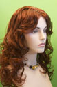 Miley Long Blonde Brunette Red Wavy Skin Top Wigs