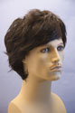 Star Medium Short Wavy Straight Blonde Brunette Red Grey Men Wig