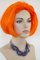 Fantasy Medium Straight Red Costume Fun Color Wigs