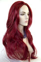 Jean Long Skin Top Wavy Straight Red Costume Fun Color Wigs
