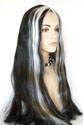 Helga Long Straight Brunette Costume Fun Color Wigs