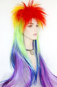 Halloween F878 Long Medium Straight Costume Fun Color Wigs