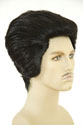 Elvis Medium Straight Brunette Costume Wigs Men Wig