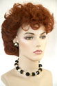 Lucille Medium Wavy Curly Red Costume Wigs
