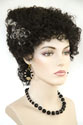 Monster Bride Medium Curly Brunette Costume Fun Color Wigs