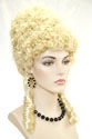Antoinette Medium Curly Blonde Brunette Costume Fun Color Wigs