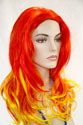 Precious Long Skin Top Straight Costume Fun Color Wigs