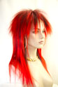Rock Star Long Straight Blonde Brunette Red Costume Fun Color Wigs
