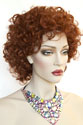 Misty Medium Short Wavy Curly Blonde Brunette Red Grey Wigs