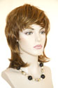 Ladonna Medium Straight Brunette Red Wigs