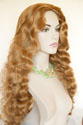 Stephanie Long Wavy Curly Blonde Brunette Red Wigs