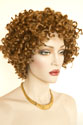 Aneesa Short Curly Brunette Red Wigs