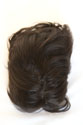 Jacky HH Toupee Medium Human Hair Monofilament Hand Tied Wavy Curly Brunette Red Grey Toupee 8.5X6.5