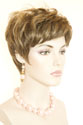 Felicia Short Monofilament Hand Tied Pixie Wavy Straight Blonde Brunette Red Wigs