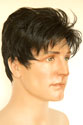 Johnny Short Wavy Straight Brunette Grey Men Wig