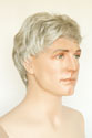 Jay Short Straight Brunette Grey Men Wig