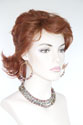 Kiki Lace Front Wig Medium Lace Front Hand Tied Wavy Straight Red Wigs