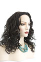 Victoria Long Medium Wavy Curly Brunette Red 3/4 Cap