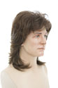 Johnny G Medium Straight Brunette Costume Wigs Men Wig