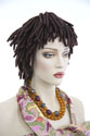 Short Dreadlock Short Curly Brunette Red Wigs