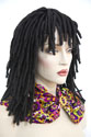 Dreadlock Medium Wavy Brunette Red Wigs