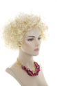Lisa G Medium Short Wavy Curly Blonde Brunette Red Wigs
