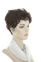 Jolie Short Pixie Wavy Brunette Red Grey Wigs