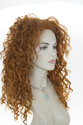 Brave Princess Long Wavy Curly Red Costume Wigs