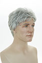 Charles Wavy Straight Brunette Grey Men Wig
