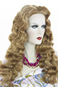 Betty Long Skin Top Wavy Curly Blonde Brunette Red Wigs