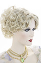 Cathy Short Skin Top Wavy Curly Blonde Brunette Red Grey Wigs