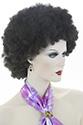 Colorful Afro Medium Curly Brunette Red Costume Fun Color Wigs