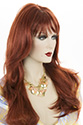 Linda B Long Skin Top Wavy Straight Blonde Brunette Red Grey Wigs