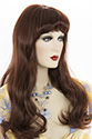 Pamela Long Skin Top Curly Straight Blonde Brunette Red Wigs