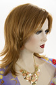 Janice Medium Straight Blonde Brunette Red Wigs