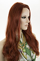 Carol 3/4 G Long Skin Top Wavy Straight Blonde Brunette Red Wigs 3/4 Cap