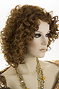 Cocktail HB Long Medium HumanBlend Heat Friendly Curly Blonde Brunette Red Wigs